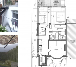 Architect designed rear house extension Tufnell Park Camden NW5 Ground floor 300x266 Tufnell Park, Camden NW5 | Rear house extension