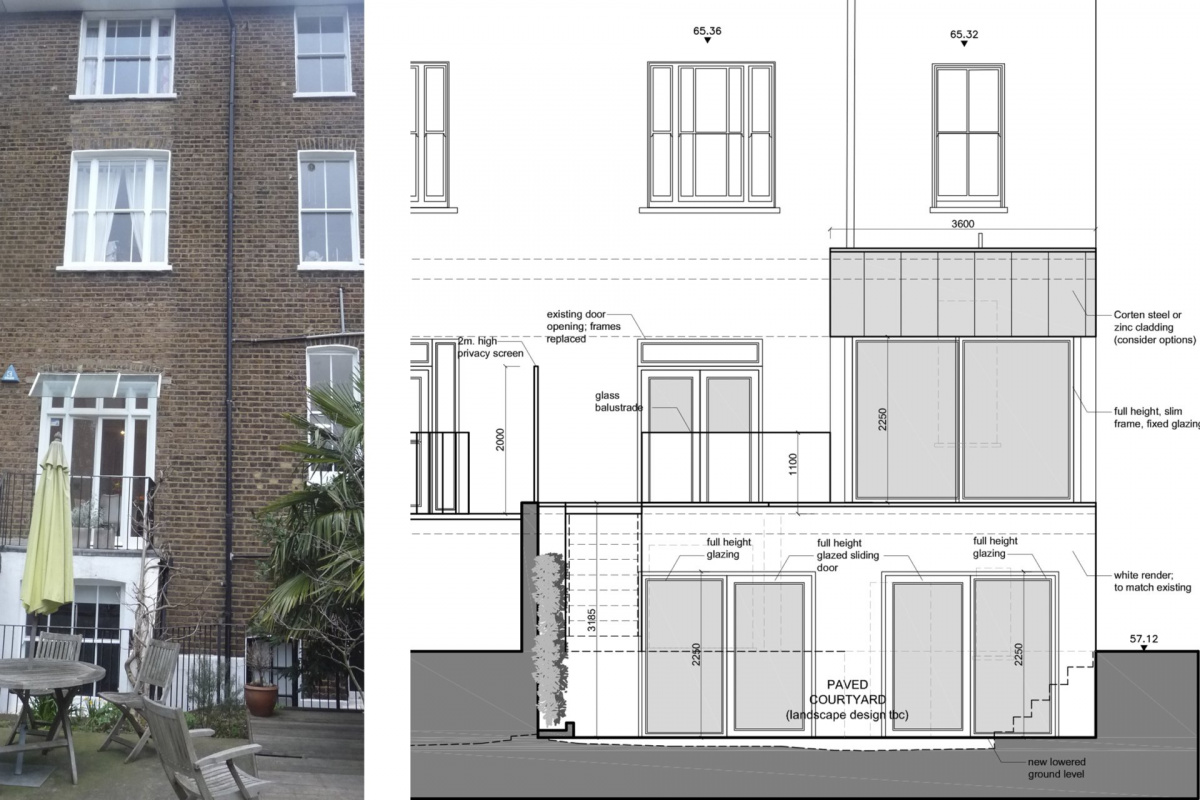 Architect designed rear house extension Tufnell Park Camden NW5 Rear elevation 1200x800 Tufnell Park, Camden NW5 | Rear house extension