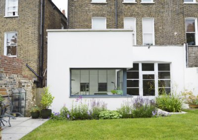 Architect designed Kilburn Brent NW2 kitchen house extension External elevation 400x284 Filterable Portfolio of Residential Architecture Projects