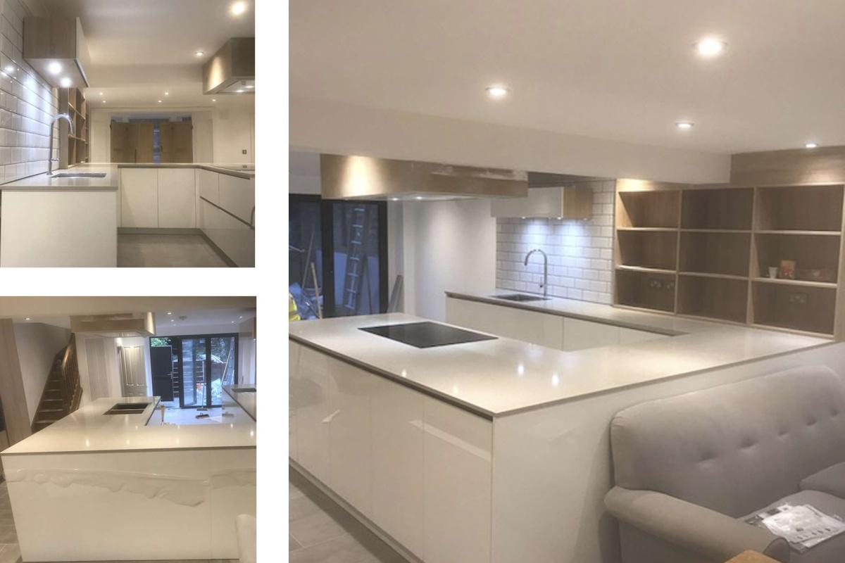 Architect designed mansard roof extension Finsbury Park Islington N7 Kitchen area 1200x800 Finsbury Park, Islington N7 | Mansard roof extension