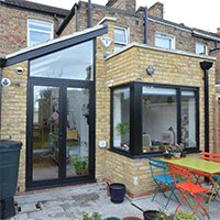 Architect designed rear house extension Finchley Central Barnet N3 Rear view 200x200 Golders Green II, Barnet NW11 | House extension