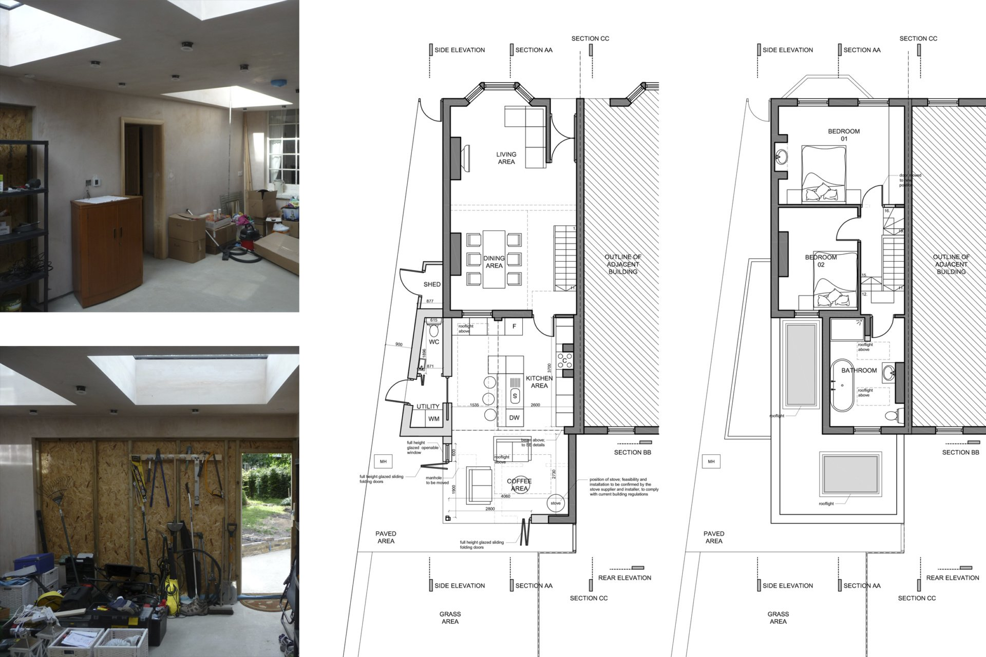 Enfield Chase EN2 Rear house extension refurbishment Floor plans Enfield Chase EN2 Rear house extension and refurbishment
