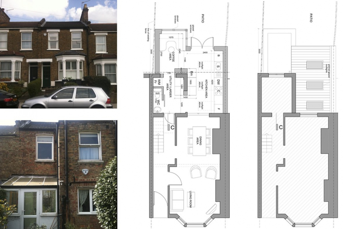 Finchley Central Barnet N3 rear house extension Floor plans 1200x800 Finchley Central Barnet N3   Rear house extension