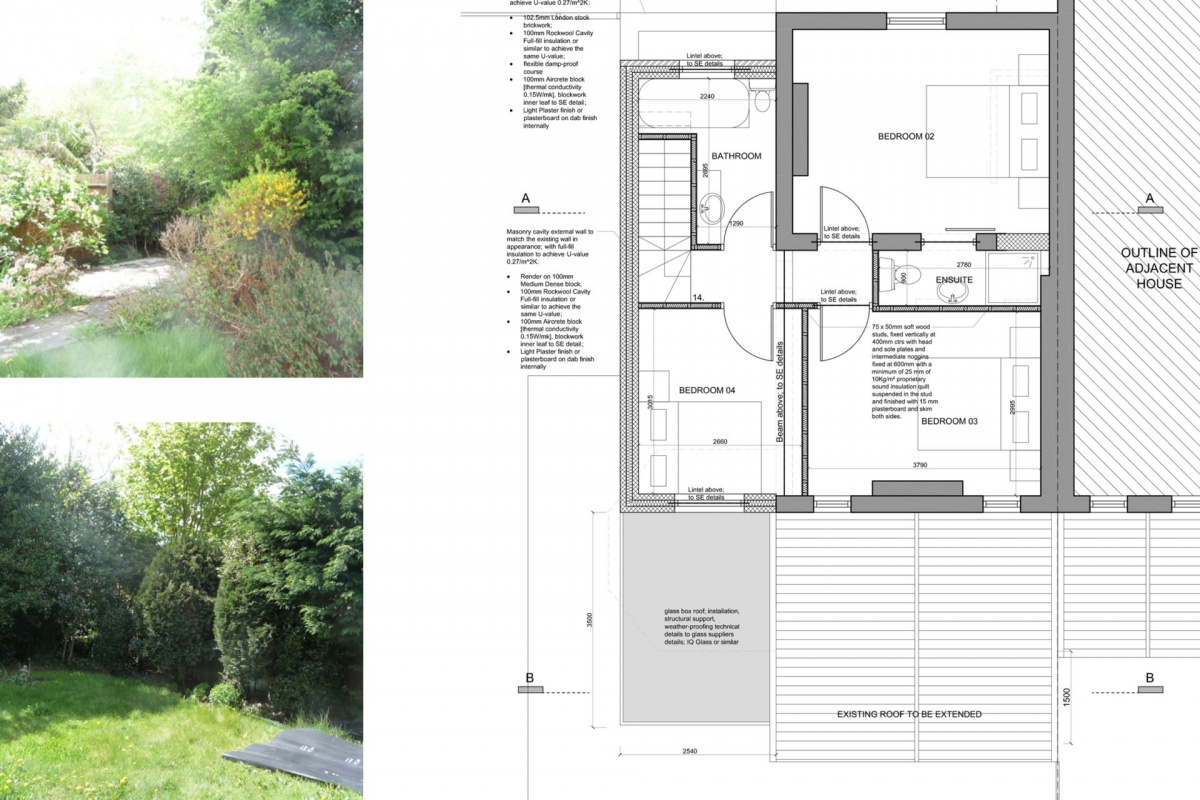 High Barnet EN5 Residential extension locally Listed house First floor plan 1200x800 High Barnet EN5 | Locally Listed house extension