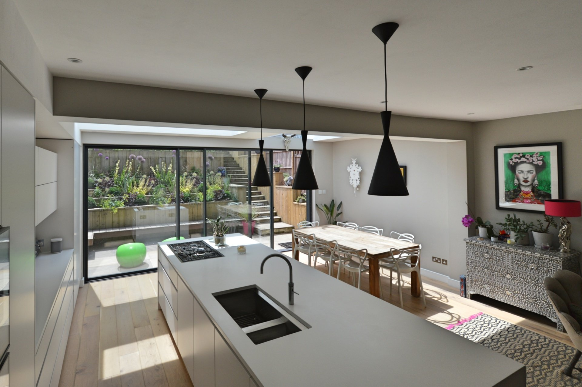 Architect designed rear house extension Highgate Haringey N6 – Kitchen and dining area 1 Highgate, Haringey N6 | Rear house extension