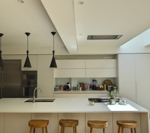 Architect designed rear house extension Highgate Haringey N6 – Kitchen breakfast area 300x266 Highgate, Haringey N6 | Rear house extension