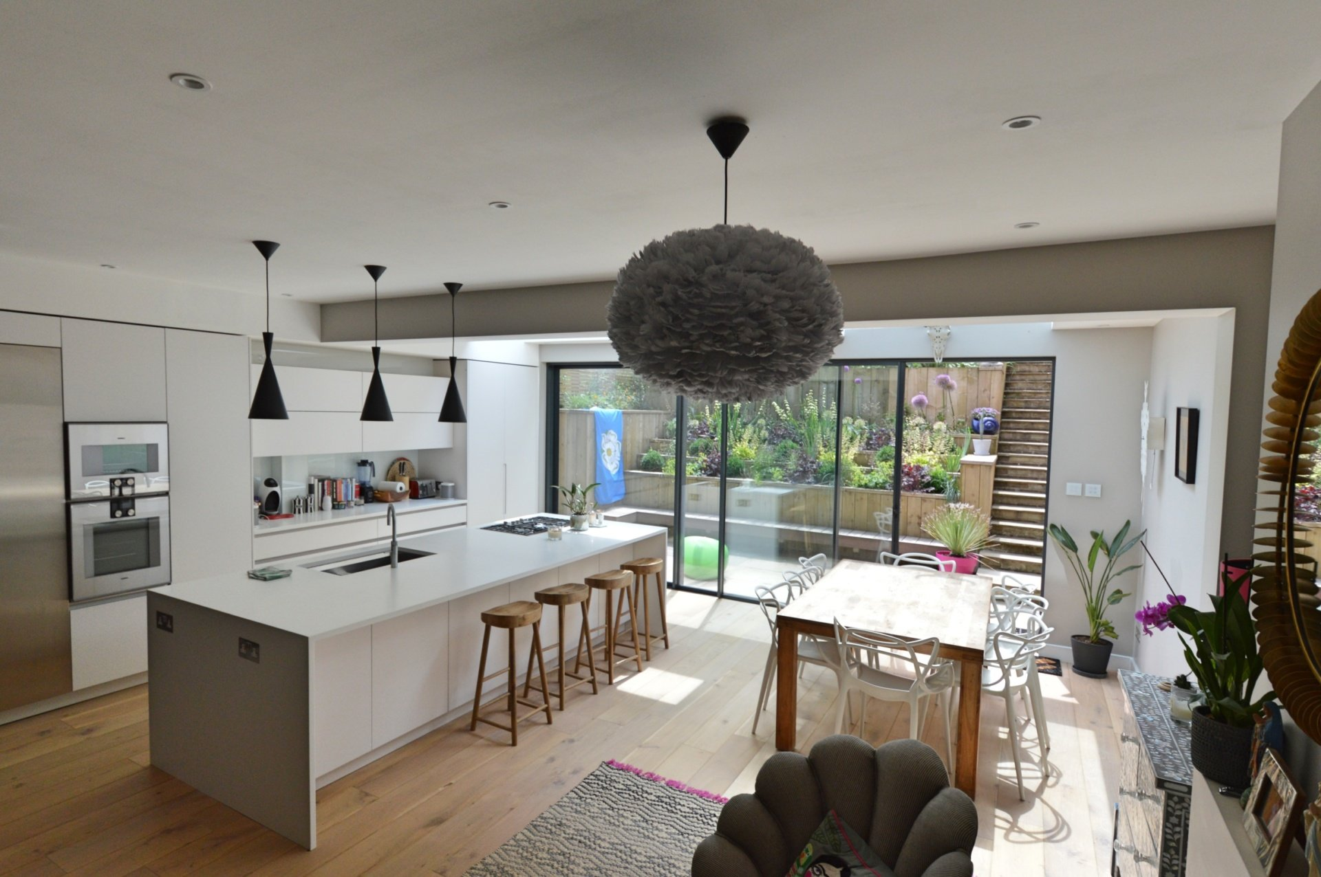 Architect designed rear house extension Highgate Haringey N6 – View from the seating area Highgate, Haringey N6 | Rear house extension
