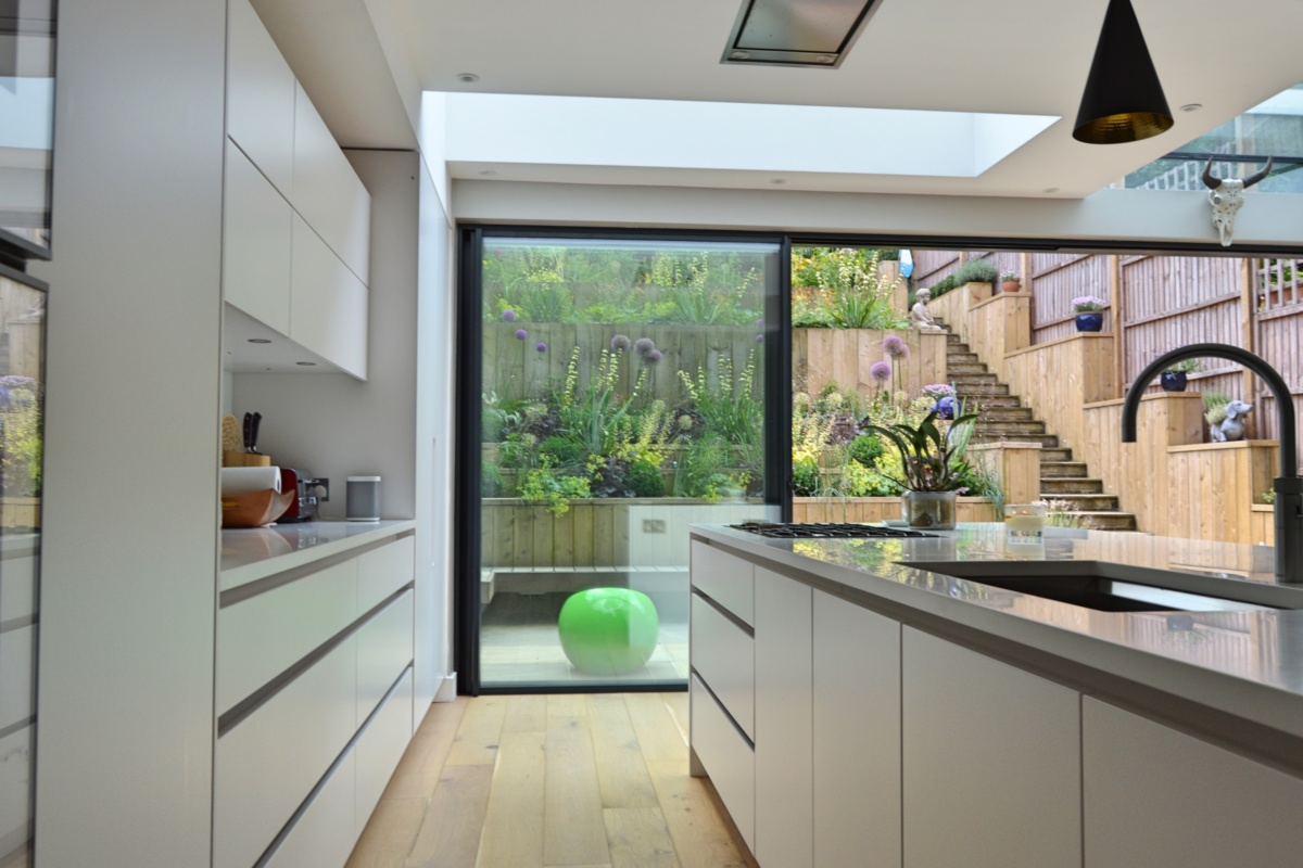 Architect designed rear house extension Highgate Haringey N6 – View to the garden from the kitchen area 1200x800 Highgate, Haringey N6 | Rear house extension