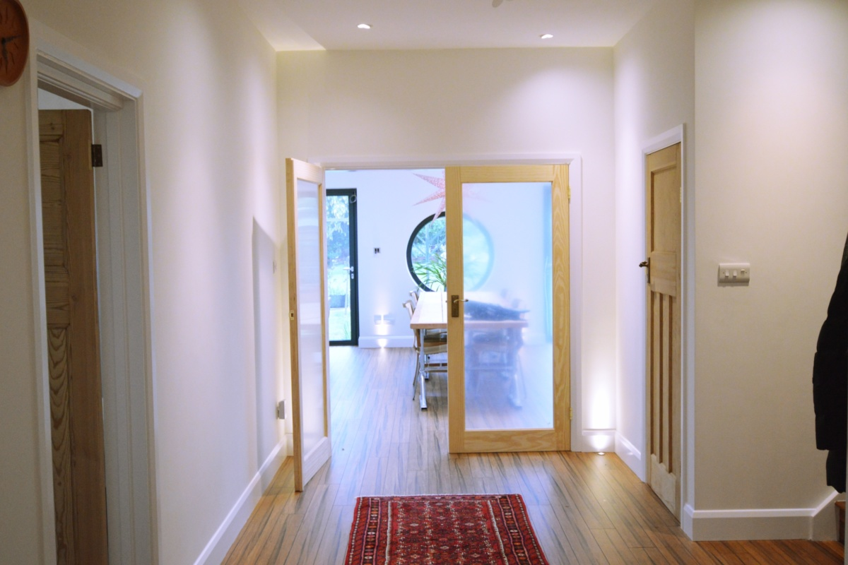 Architect designed residential extension Stoneleigh KT17 – View from entrance hall 1200x800 Stoneleigh KT17 | Extension and alterations to a bungalow