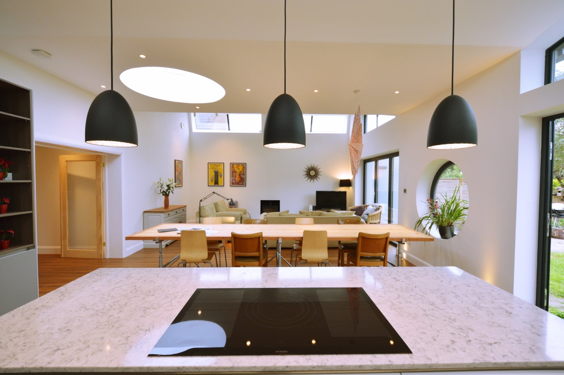 Architect designed residential extension Stoneleigh KT17 – View from kitchen area Kitchen extensions London | Home design