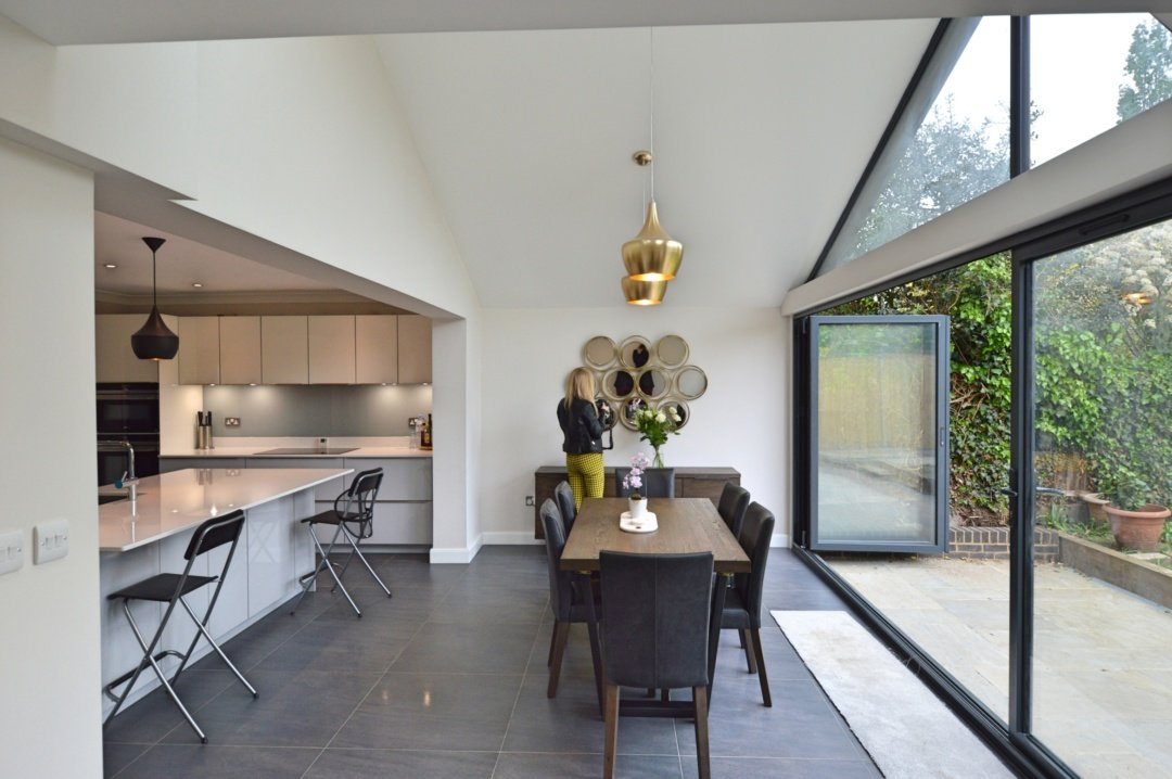 Architect designed roof and kitchen house extension Kingston KT2 Dining area e1582376964759 Kingston KT2 | Roof and kitchen house extension