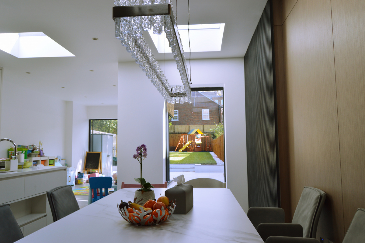 Residential house extension and refurbishment Finchley Road Camden NW6 Dining area scaled 1200x800 Residential house extension and refurbishment Finchley Road Camden NW6