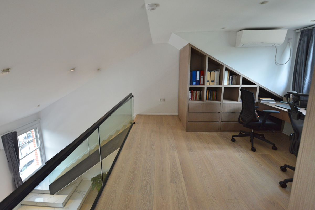 Residential house extension and refurbishment Finchley Road Camden NW6 Master bedroom and home study scaled 1200x800 Residential house extension and refurbishment Finchley Road Camden NW6