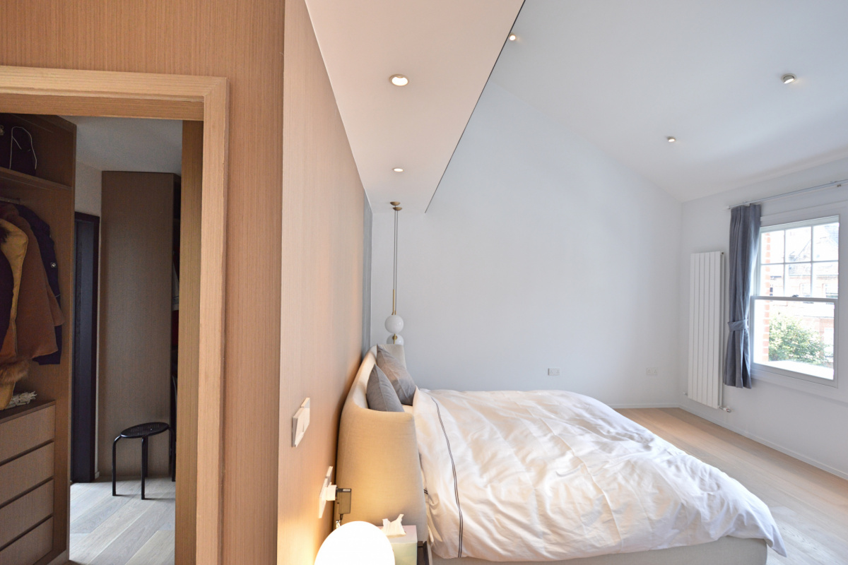 Residential house extension and refurbishment Finchley Road Camden NW6 Master bedroom and walk in wardrobe scaled 1200x800 Residential house extension and refurbishment Finchley Road Camden NW6
