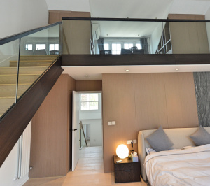 Residential house extension and refurbishment Finchley Road Camden NW6 Master bedroom double height space scaled 300x266 Residential house extension and refurbishment Finchley Road Camden NW6