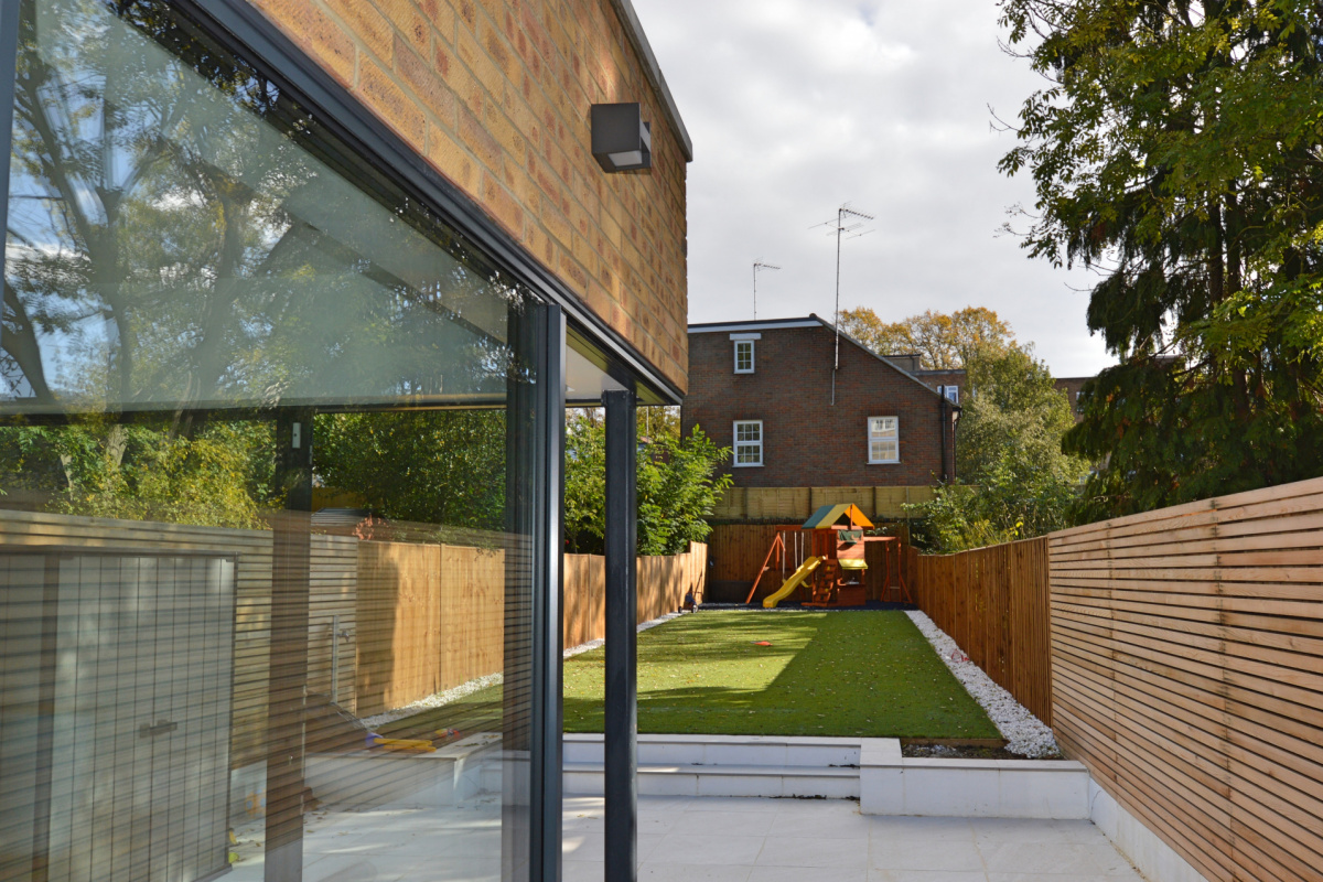 Residential house extension and refurbishment Finchley Road Camden NW6 Side and garden scaled 1200x800 Residential house extension and refurbishment Finchley Road Camden NW6
