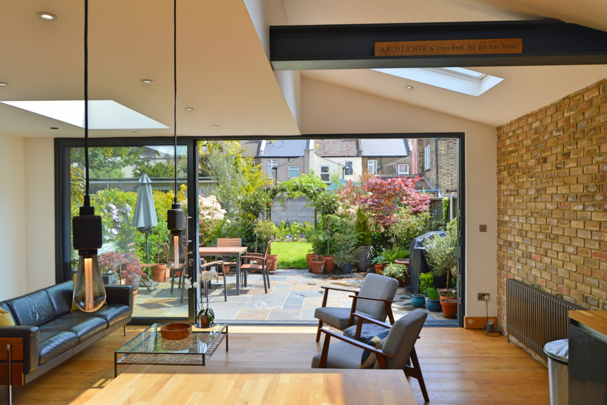 Architect designed house extension Maryland Newham E15 View to the garden scaled 1200x800 Newham Residential Architecture Projects