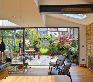 Architect designed house extension Maryland Newham E15 View to the garden scaled 300x266 Architect designed house extension Maryland Newham E15